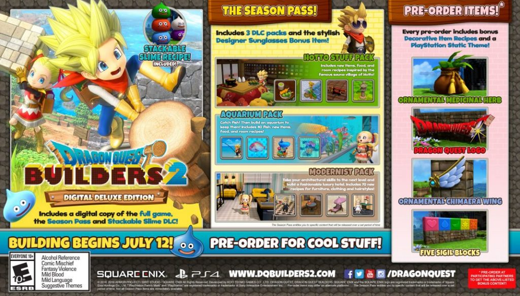Dragon Quest Builders 2's First DLC Pack Is Now Live in the
