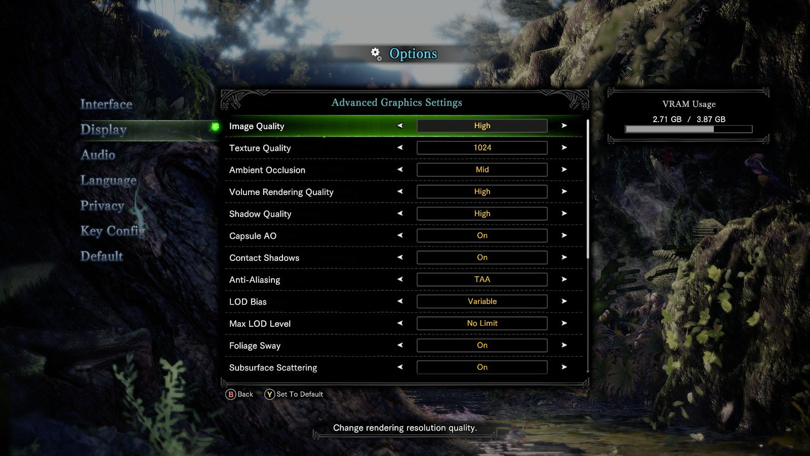 Iceborne PC settings